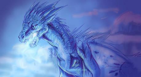Ice Dragon by kalicothekat