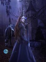 Sad gothic Queen by SPRSPRsDigitalArt