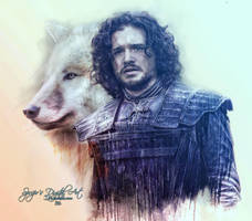 Jon Snow by SPRSPRsDigitalArt