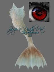 Painted mermaid tail by SPRSPRsDigitalArt