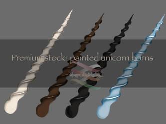 Premium stock: painted unicorn horns by SPRSPRsDigitalArt