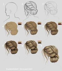 Blonde HairStyle Tutorial by KarenOArt