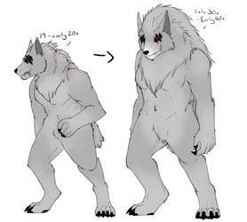 Aging wolf by Aria-Suna-Kunoichi