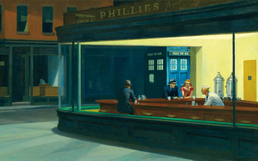 TARDIS v. Edward Hopper by stinglacson