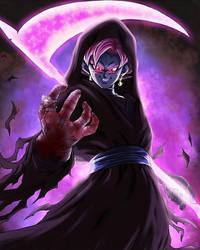 Black Goku Halloween Scythe by songotix