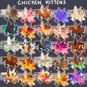 CHICKEN KITTENS- EMERGENCY FUND/UPDATE- $10 EACH by Hootsewers