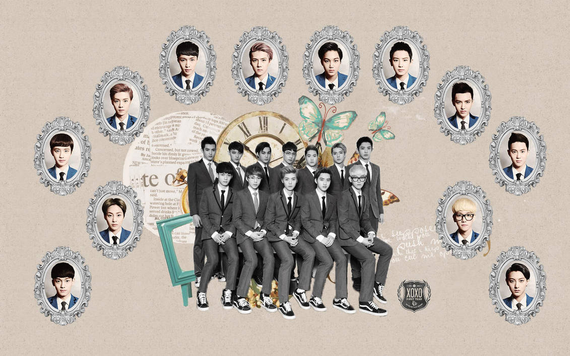 Exo Xoxo Comeback Kiss And Hug Wallpaper By Kpopgurl On Deviantart