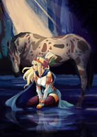 The Queen of Water - Elemental series- by Nhur
