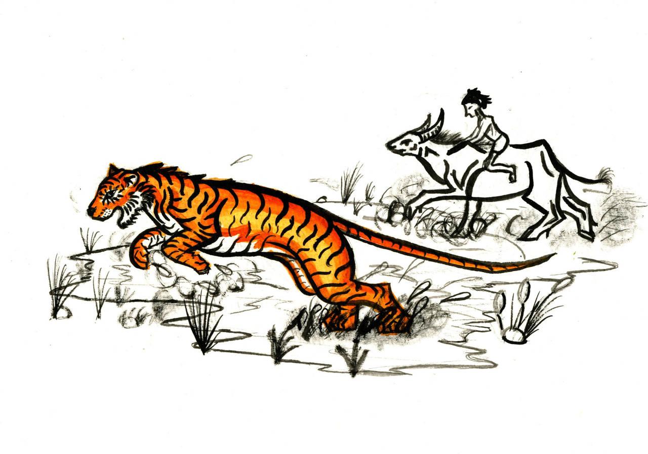 Shere Khan vs Rama and Mowgli by Jetstream1118