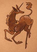 Unicorn Fawn by annekaretnikov