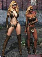 Leopard Girls by mrbunnyart