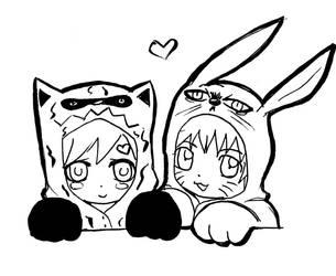 Naruto and Gaara by Doujinmaker97