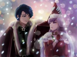 Fire Emblem - Christmas Sigurd and Julia by leonmandala