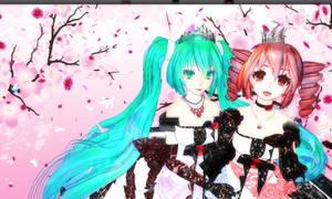 Miku and Teto Background - 3 by MMDTeto13