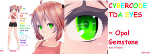 [MMD] - OGTextures - TDA CyberCode Eyes by MMDTeto13