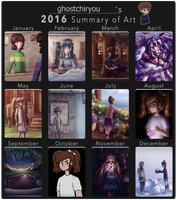 2016 Summary of Art by ghostchiryou