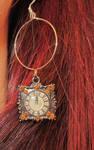 Modeled Mismatched Earrings Clock by undeadxsiren