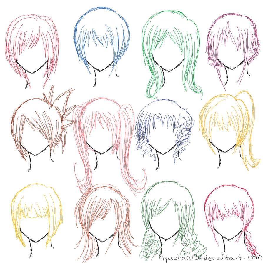 Hair Ref 12 Hairstyles By Myachan13 On Deviantart