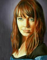 portrait of a girl by ponyania