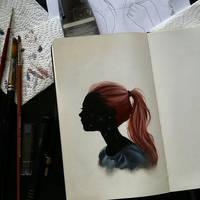 oil sketch by ponyania