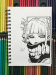 Himiko Toga Drawing From My Hero Academia by ClarkRankins
