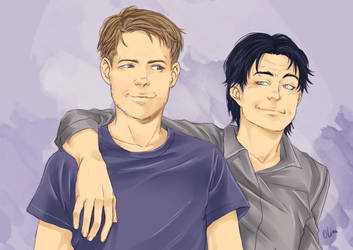Alaric and Damon by LinART