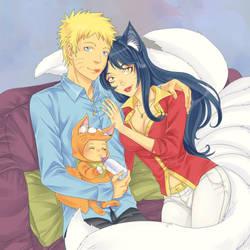 Naruto and Ahri 2 by LinART