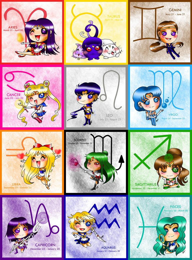 Senshi Zodiac by BrutalTomoko