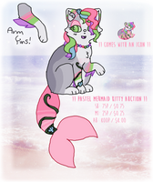 [CLOSED] PASTEL MERMAID KITTY AUCTION by SKlTTY