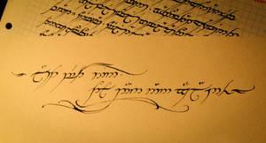 Elvish Tattoo design by Nirnaeth-en-Ainur