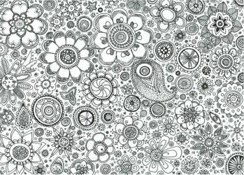 floral pattern II by Traumfaengerin-Wish