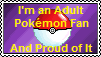 Adult Pokemon Fan's Stamp by RhaedaLeeMire