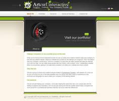 Artcurl Website Mockup by jimmybjorkman