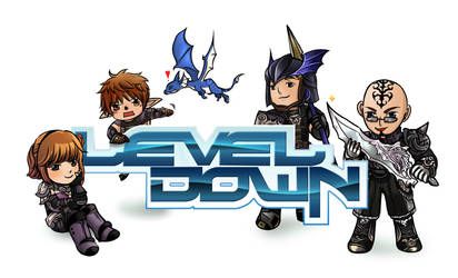 Level Down logo design by lurazeda