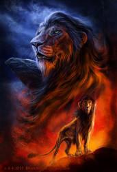 The king of Pride Rock by FelisGlacialis