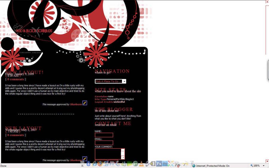 RednBlack Scribbles Blog Skin by torngemini