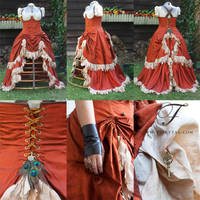 Steampunk Wench Wedding Dress by Fairytas