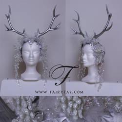 Silver winter Antlers by Fairytas