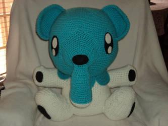 Cubchoo Crochet doll by EndlessBlueSky