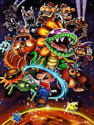 Suuper Mario Galaxy!! by psicoero