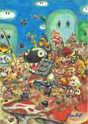 Mario under attack by psicoero