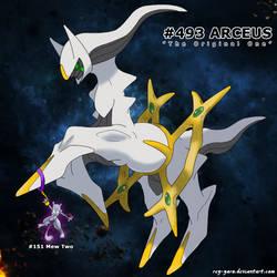 Arceus vs Mew Two by ReY-Yaro