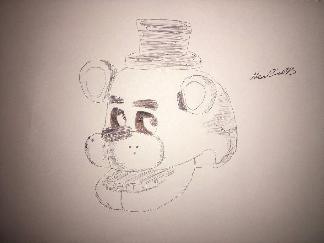 Freddy fazbear drawing by NeonZero13 on DeviantArt