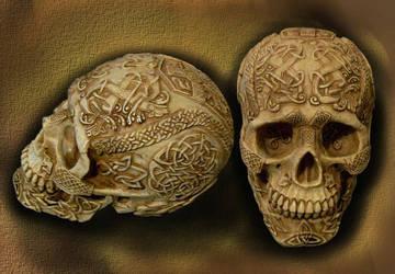 Celtic Skull Gift from Sister by kashimitsu