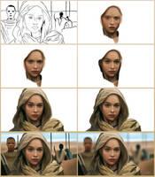 Daenerys Targaryen in steps by Lukecfc