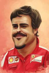 Fernando Alonso by Lukecfc