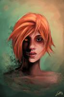 Redhead daemon girl by Lukecfc