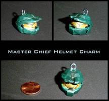 Halo Master Chief Helmet Charm by YellerCrakka