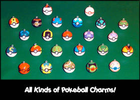 All My Pokemon Pokeball Charms by YellerCrakka