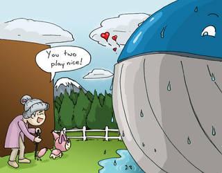 Pokemon - Wailord X Skitty by YellerCrakka